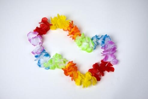 Blütenkette bunt Hawaii