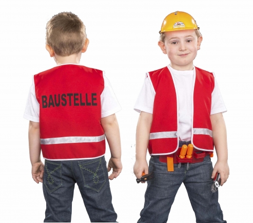 Bauarbeiter Weste für Kinder Spielweste Baustelle