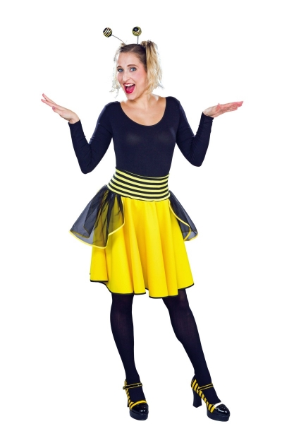 Bienchen-Tellerrock Damen Bienenkostüm