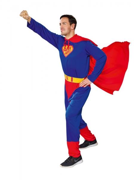 Superheld Overall mit Umhang und Gürtel