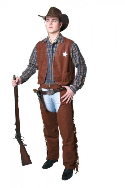 Cowboy Überhose, Chaps, braun