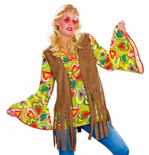 Hippie-Weste für Damen, braun