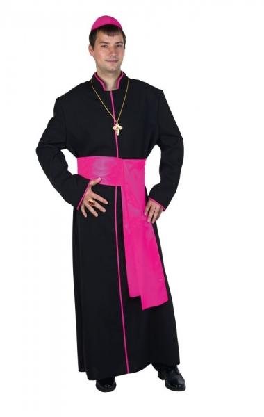 Bischof Priester Geistlicher Gewand mit Schärpe und Käppchen
