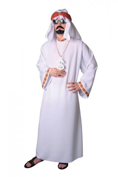 Scheich Ölprinz Araber Gewand mit Kopftuch