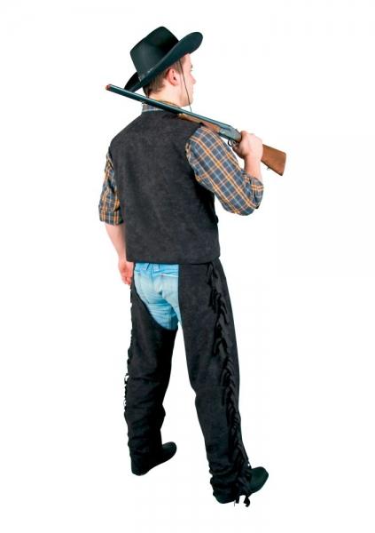 Cowboy Überhose, Chaps, schwarz
