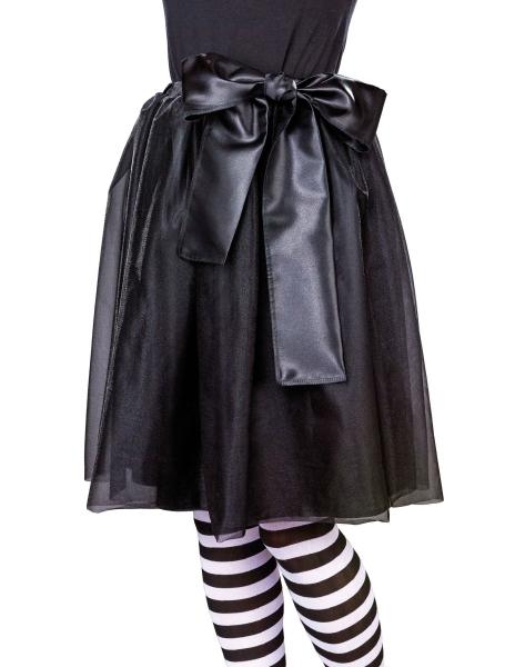 Chiffon Satin Rock verschiedene Farben schwarz, weiß, rubinrot