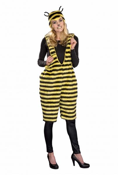 Biene Latzhose mit Haube Plüschkostüm