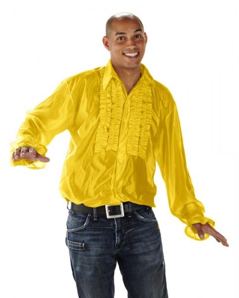 Disco Rüschen Hemd Fasching Verkleidung