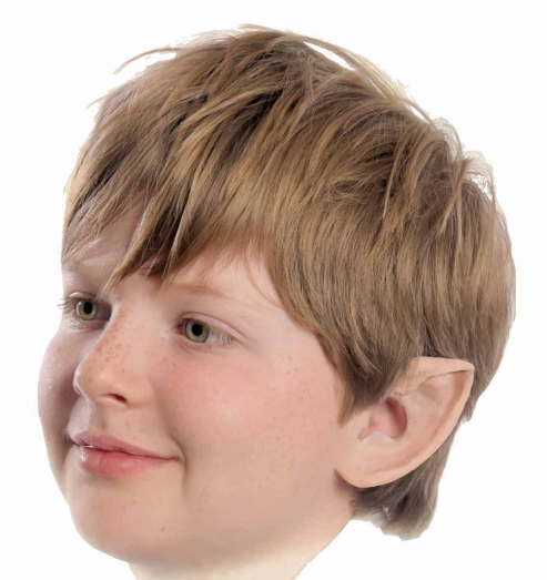Elfenohren aus Latex für Kinder  kurz  ca. 6 cm