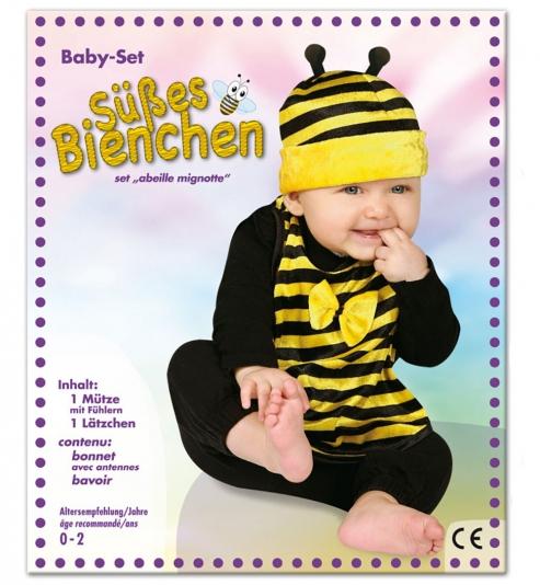 Biene Baby Set, Lätzchen + Mütze Größe 86