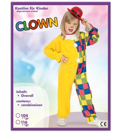Clown Overall Kinder Kostüm