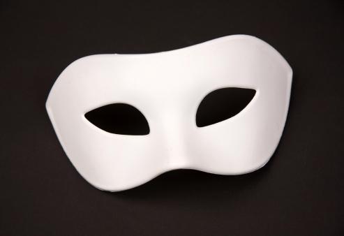 Augenmaske weiß, bemalbar