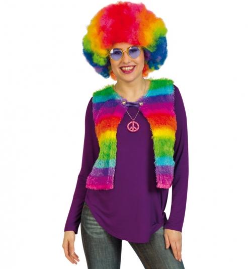 Weste Hippie Reggae Regenbogen