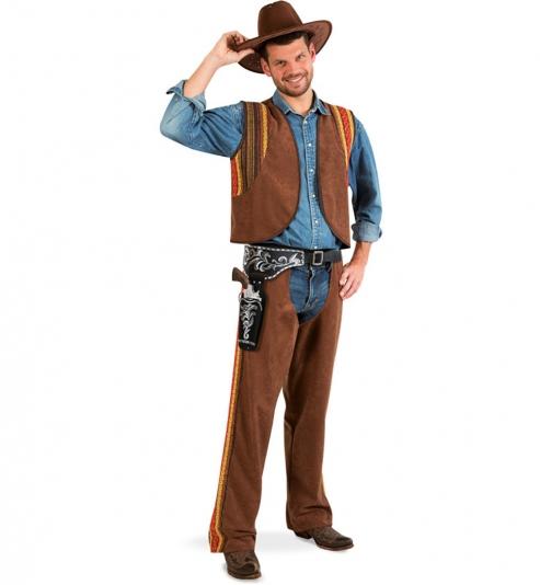 Cowboy Western Kostüm 2tlg. Chaps und Weste