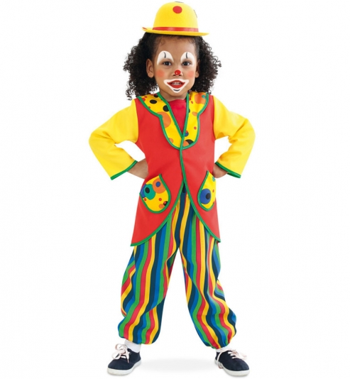 Clowni Clown Anzug 2tlg. Oberteil + Hose