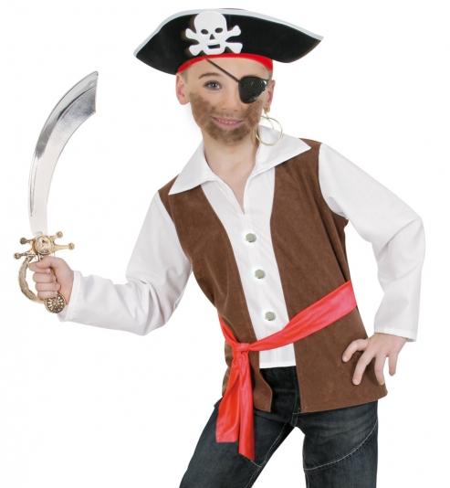 Pirat Seeräuber Oberteil mit Gürtel