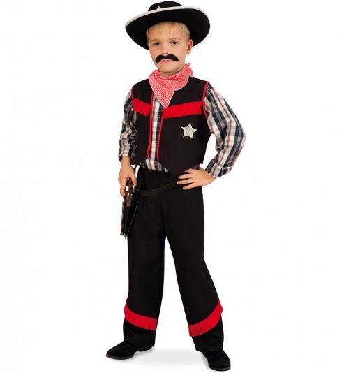 Cowboy Ranger Sherrif Kostüm 3tlg. (Hose, Weste, Halstuch)