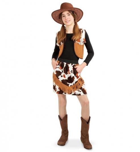 Cowgirl Western Kostüm  Weste und Rock