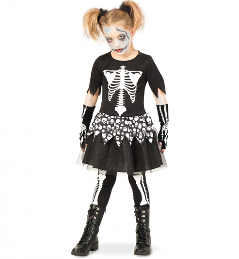 Skelett Kleid mit Leggings