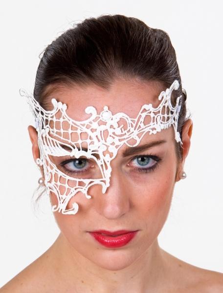 Augen-Halbmaske aus weißer Spitze