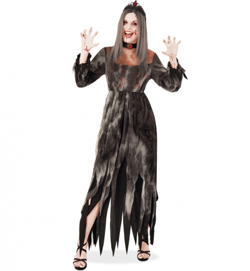 Vampir Zombie Untote Bloody Marry Horror Halloween Kleid