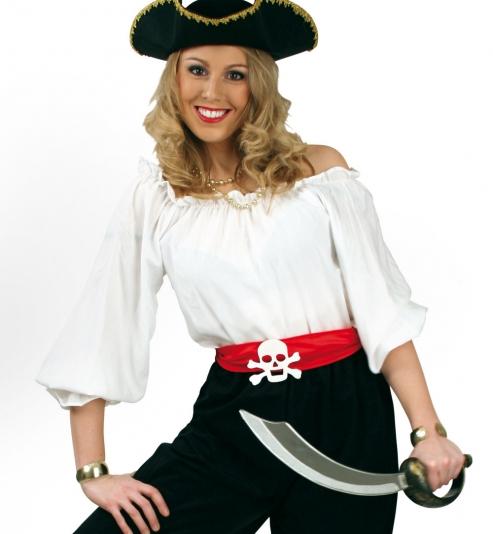 Carmen Bluse Faschingsbluse für Piratin oder Cowgirl
