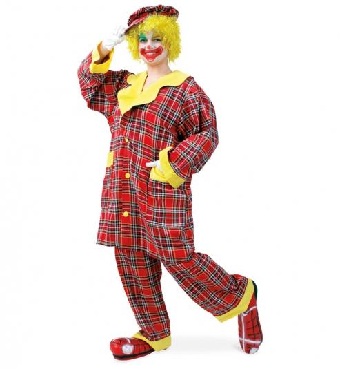 Clown Pipo, Oberteil, Hose + Mütze