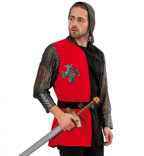 Ritter Oberteil mit Kapuze und Gürtel