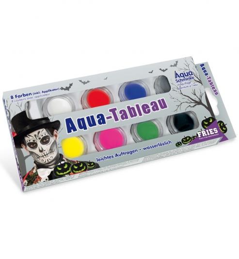 Aqua Schmink Set Halloween, 8 Farben incl Pinsel, 32g