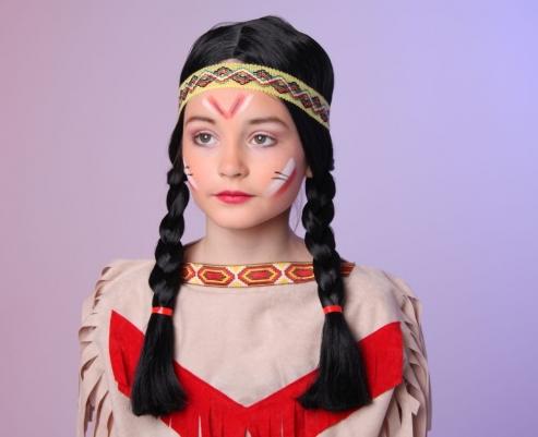 Faschingsperücke für Kinder Indianerin