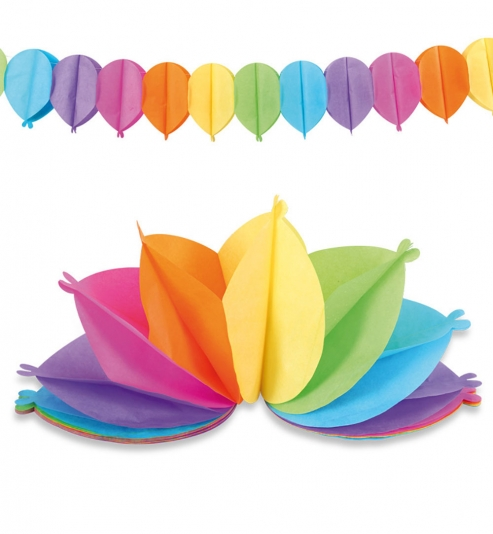Girlande Luftballons bunt, ca. 3,6 m Länge