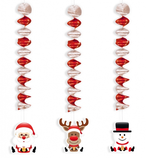 Rotor Girlande Spiralgirlande Weihnachten 3er Set Weihnachtsdeko