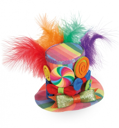 Minihut Candy, (Fascinator) mit 2 Haarclips