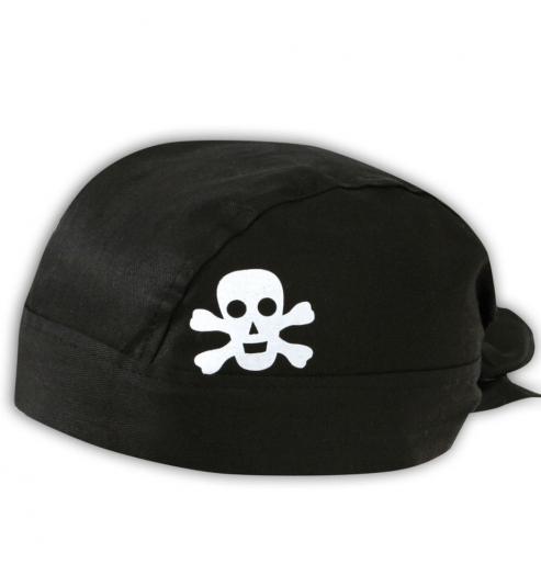 Bandana Pirat mit Totenkopf schwarz