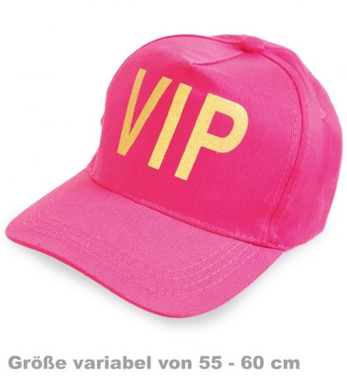 Basecap VIP pink, Gr. 55 - 60 cm variabel