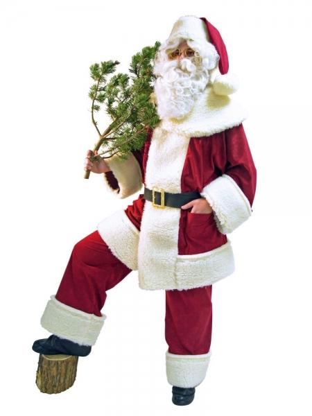 Weihnachtsmann Kostüm Anzug Waschsamt