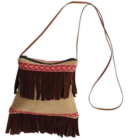 Indianer-Tasche, ca. 19 x 20 cm