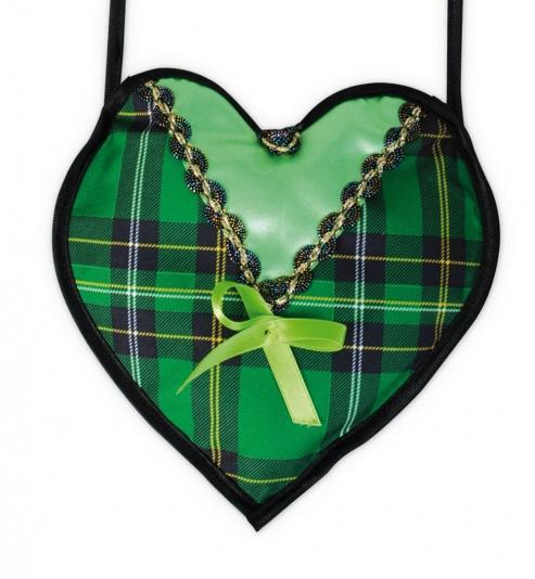 Dirndl Herz Handtasche grün