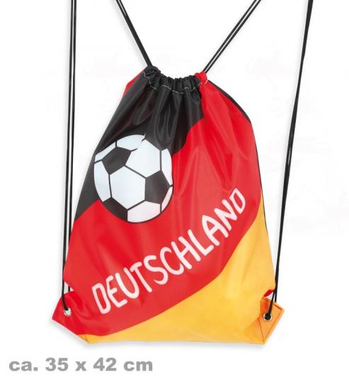 Turnbeutel Deutschland Fan mit Kordel, ca. 35 x 42 cm