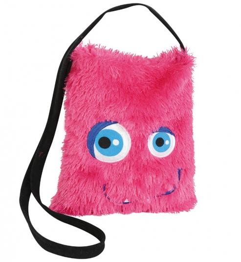 Monster-Tasche pink ca. 26 cm x 30 cm