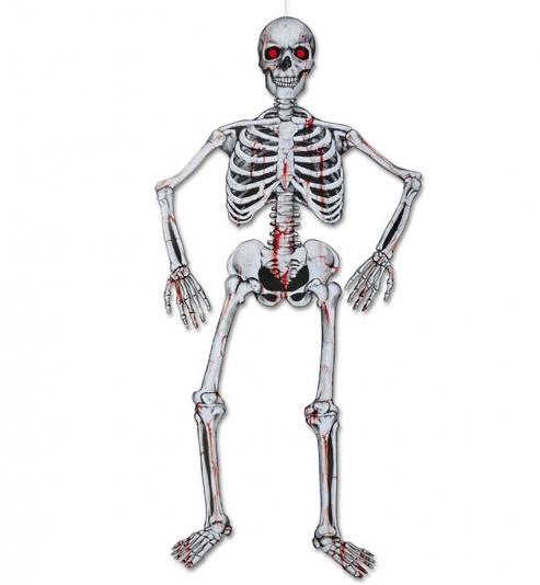 Deko Skelett beweglich, ca 135 cm