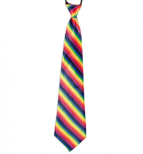 Krawatte bunt, regenbogenfarbig, ca. 43 cm Länge