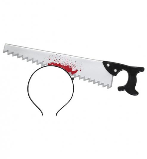 Haarreif mit Horror Säge Halloween