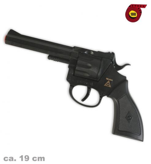 Revolver Rocky (100er-Streifen Munition), ca. 19 cm Länge
