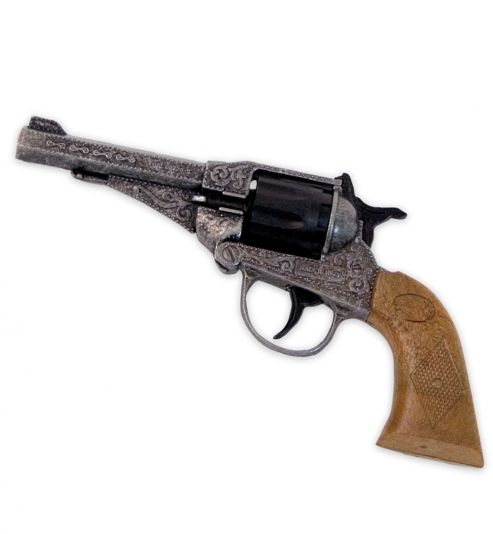 Revolver Sterling Antik, Metall (8er-Ring Munition), ca. 17 cm Länge
