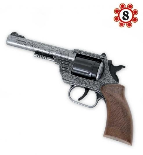 Revolver Dakota, Metall (8er-Ring Munition), ca. 20 cm Länge