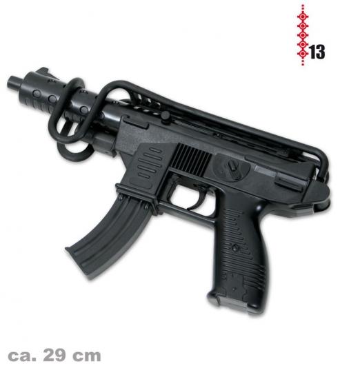 Deko-Pistole UZI-Style mit Armstütze