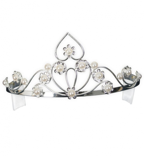 Edles Diadem mit Perlen