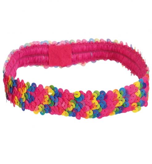 Stirnband Rainbow, elastisch