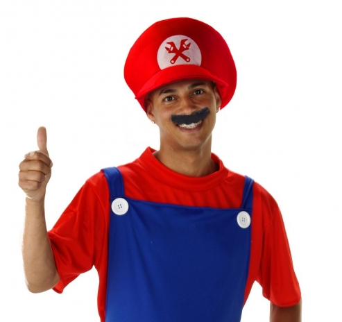 Super Klempner-Set: Mütze, Schnurrbart